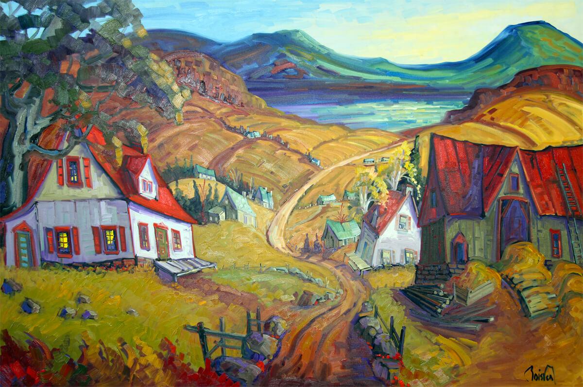 La côte de St-Irénée en automne - Normand Boisvert