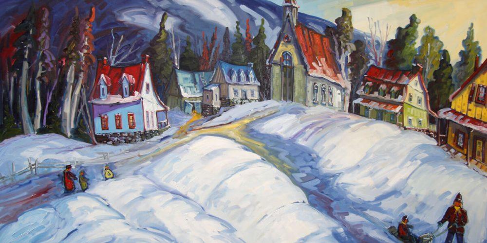 Une première neige au village - Normand Boisvert