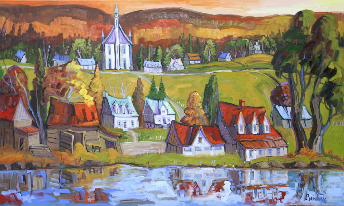 Reflet au village de Grande Pile - Normand Boisvert