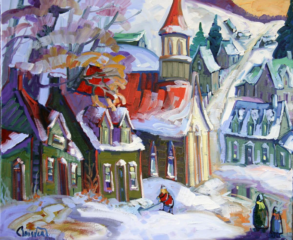 Première neige au village - Normand Boisvert
