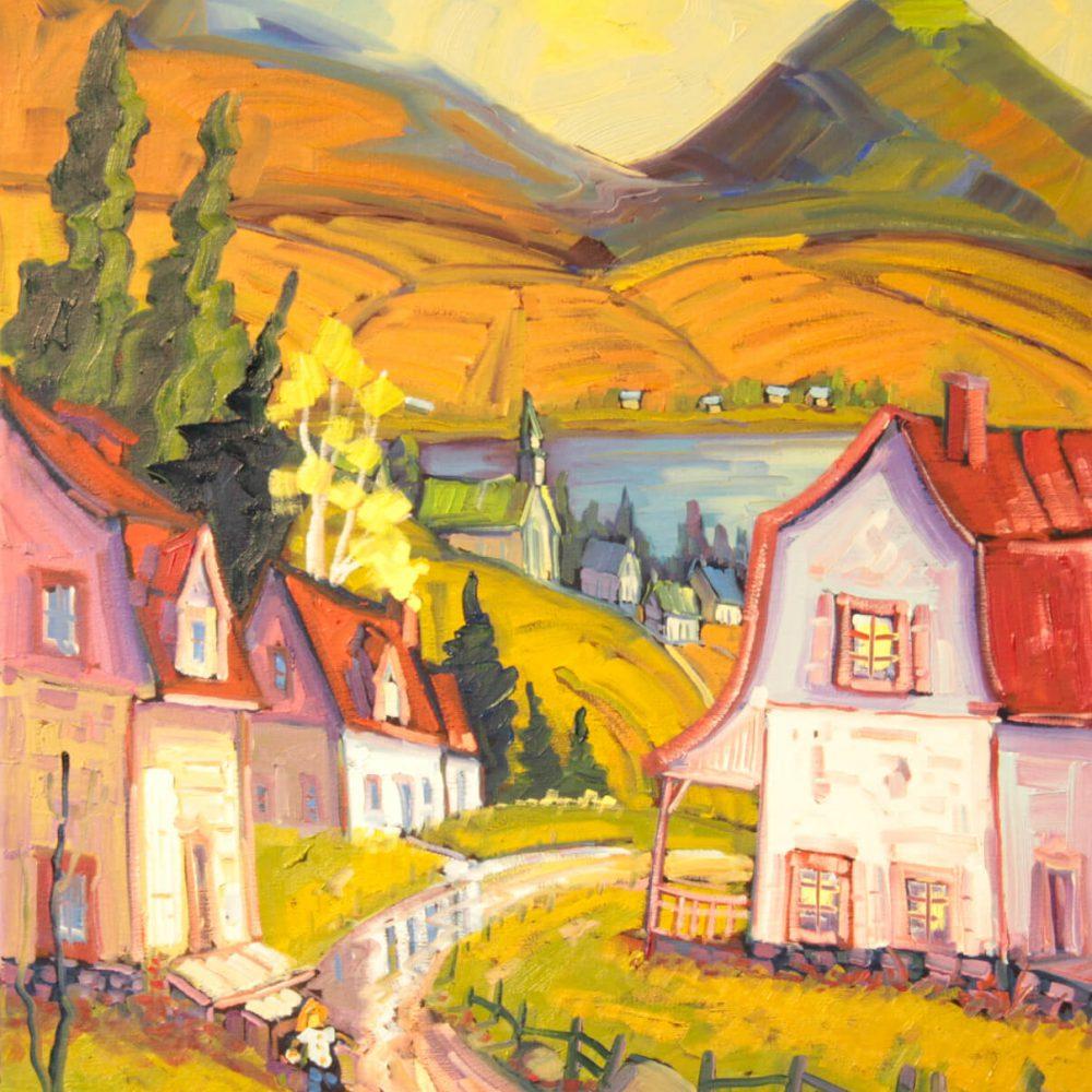 La rencontre au rang du village - Normand Boisvert