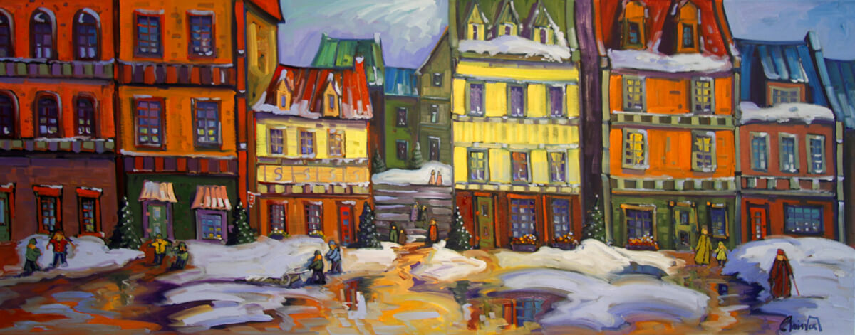 Reflet dans le vieux Québec - Normand Boisvert