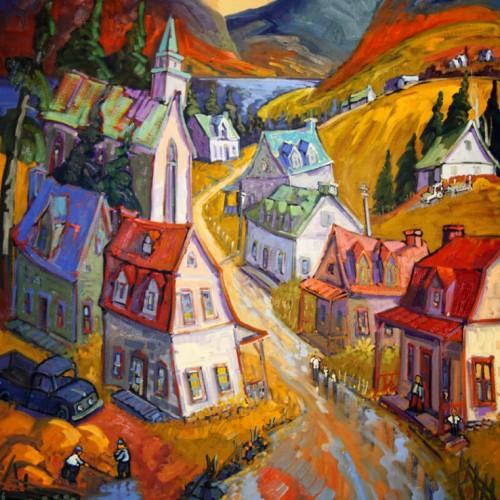 Le chemin de la montagne en automne - Normand Boisvert