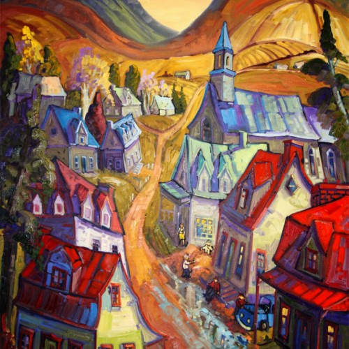 Travail au village de la montagne - Normand Boisvert