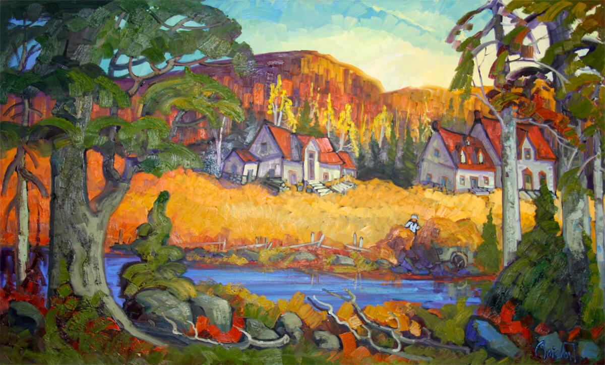 Fermier à la rivière - Normand Boisvert