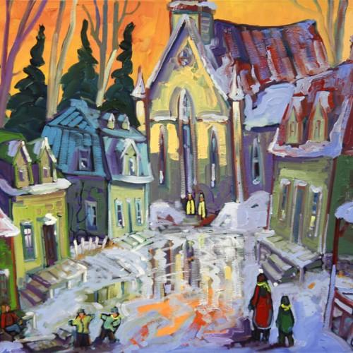 Rencontre à l'église du village - Normand Boisvert