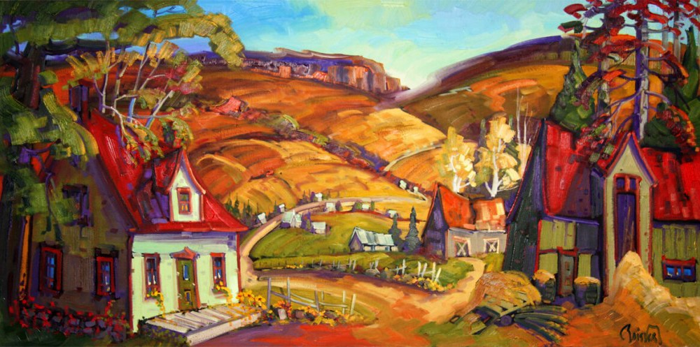 Une ferme aux toits rouges - Normand Boisvert