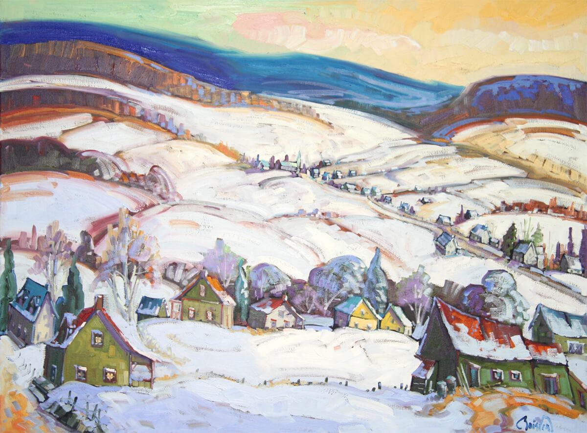 Première lueur hivernal, les Éboulements - Normand Boisvert