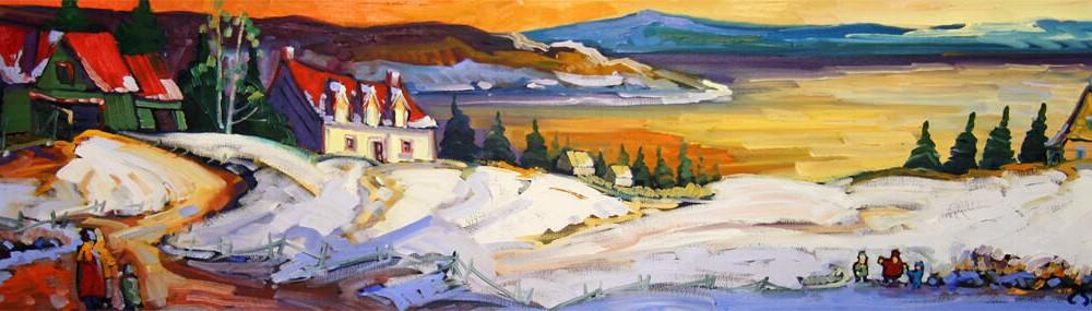 Lueur hivernale - Normand Boisvert