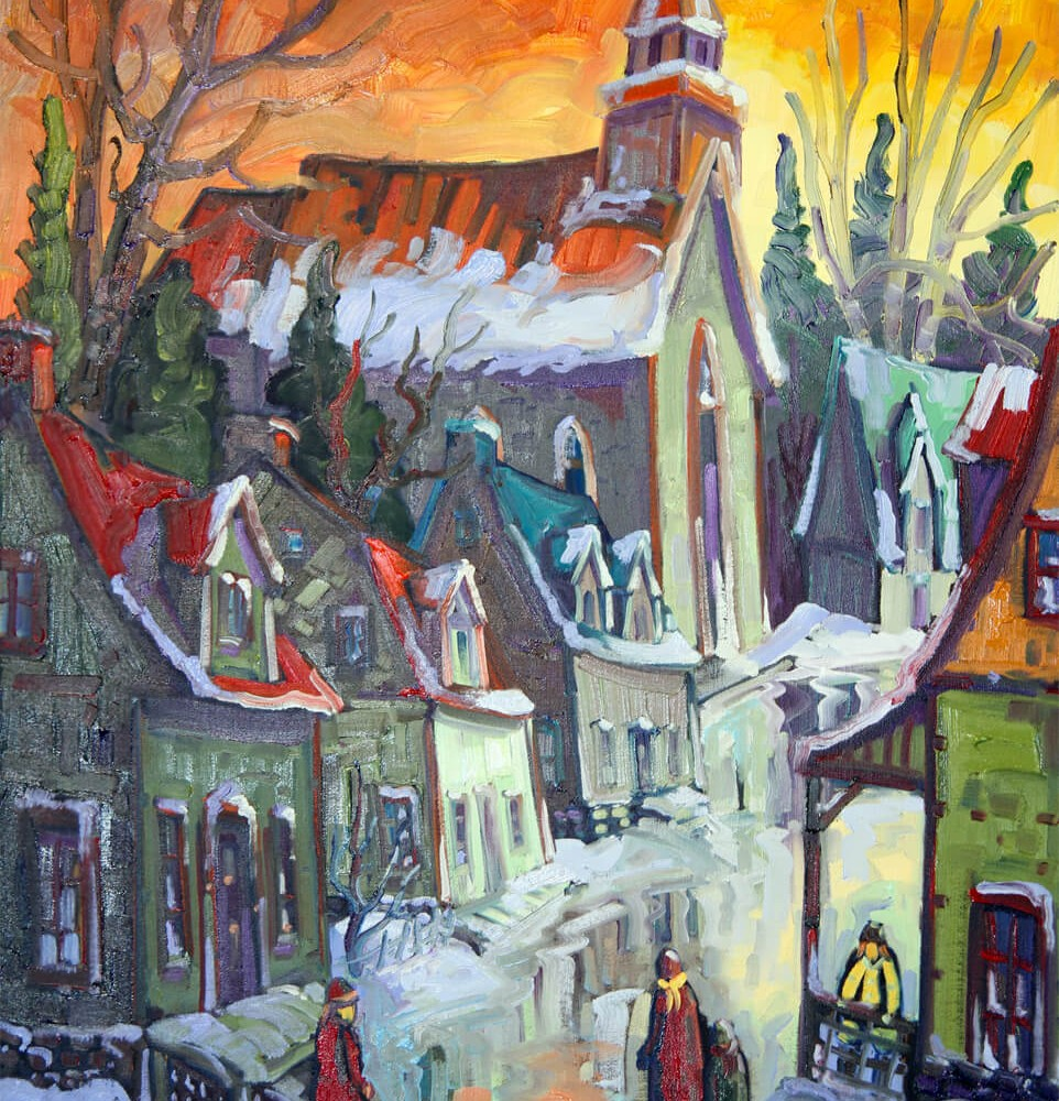 Promenade au village - Normand Boisvert