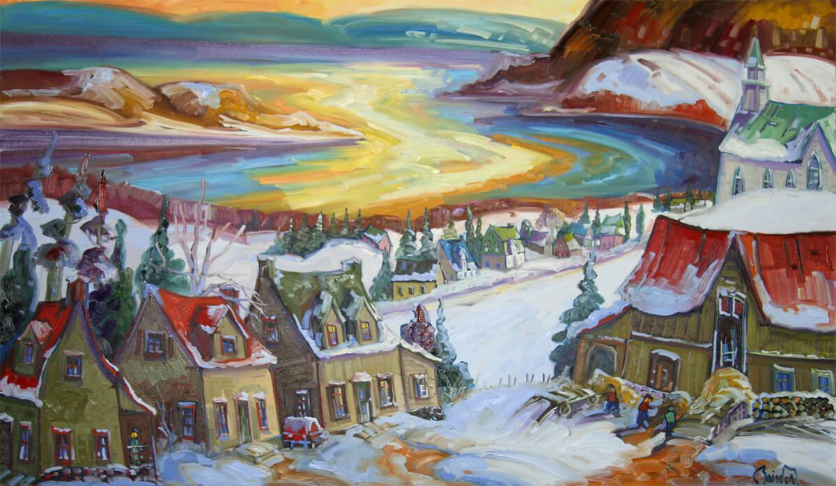 Une première neige aux Éboulements - Normand Boisvert