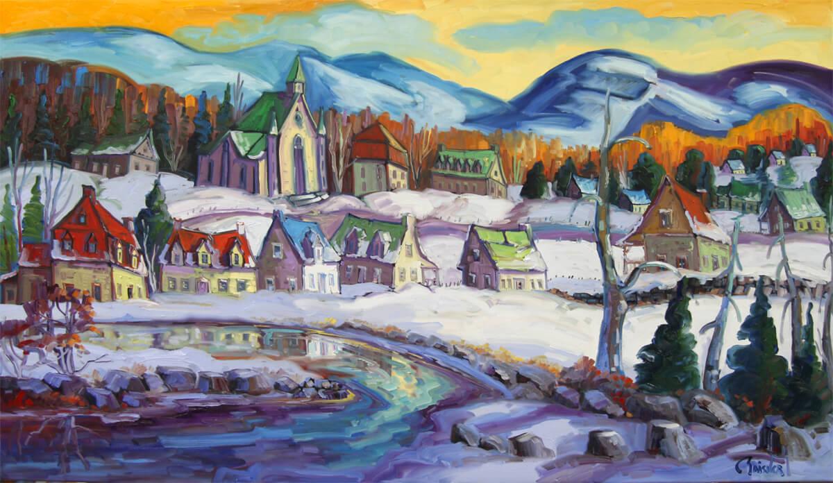 Baie Saint-Paul sous la neige - Normand Boisvert