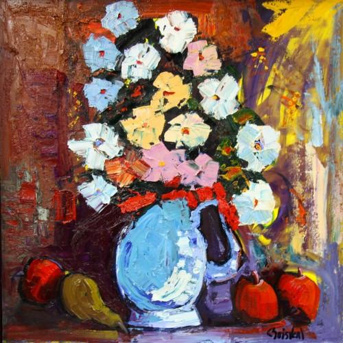 Quelques fleurs rouges - Normand Boisvert