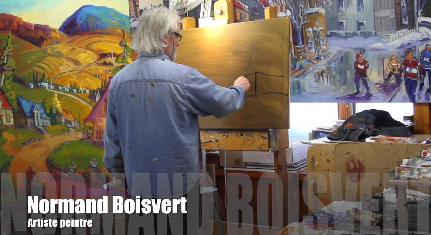Normand Boisvert à l'œuvre dans son atelier